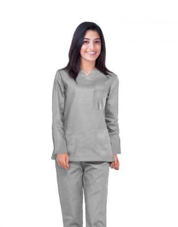 Light Grey Full Sleeve All-Day Medical Scrubs