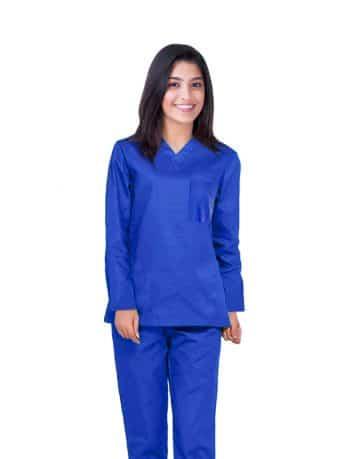 Royal Blue Full Sleeve All-Day Medical Scrub