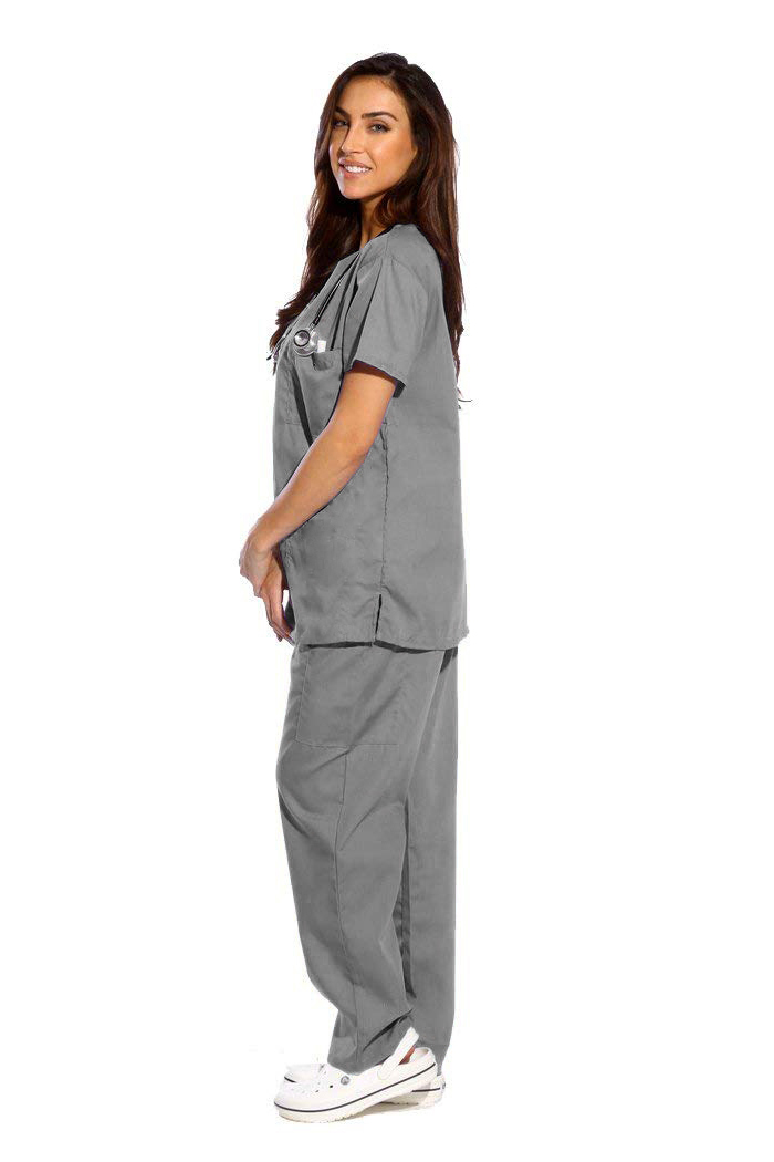 Dark Grey Scrub | Medical Uniform Scrub - Half Sleeve