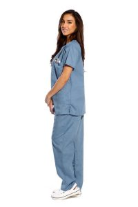 Teal Medical Uniform Scrub - Half Sleeve