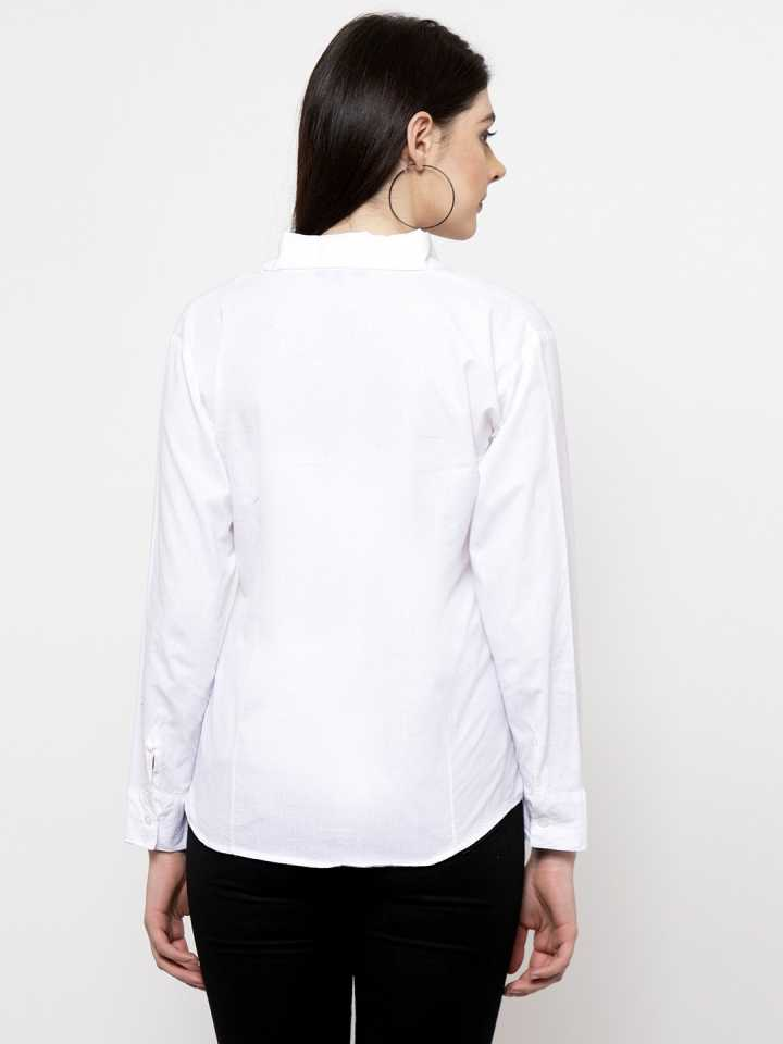 Women's White Formal Shirt