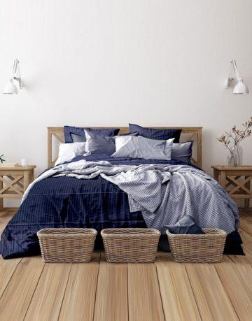 Double Stripe Bedsheet - Queen Size