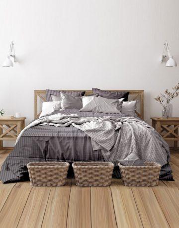 satin-stripe-bed-dark-grey