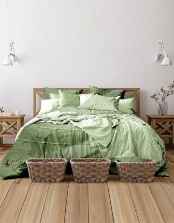 satin-stripe-bed-green