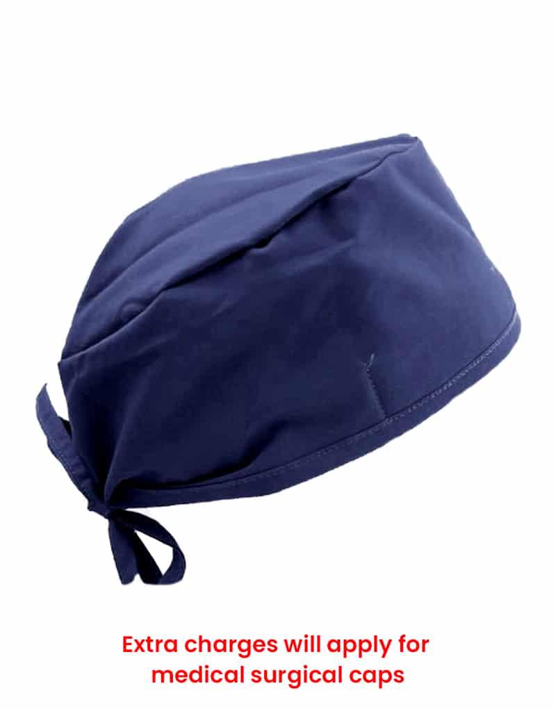scrub cap navy blue