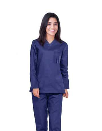 Navy Blue Full Sleeve All-Day Medical Scrubs