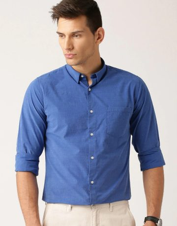 Men's Blue Formal Shirt
