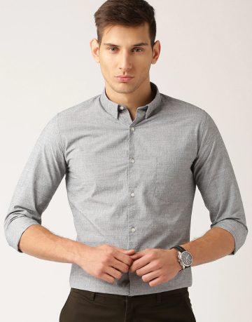 Men's Light Grey Formal Shirt
