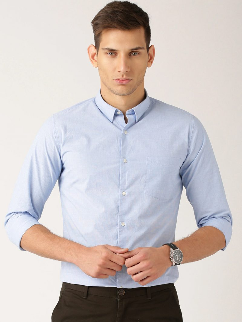 Men's Light Blue Formal Shirt
