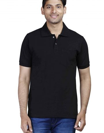 Men's polo Black T-shirt