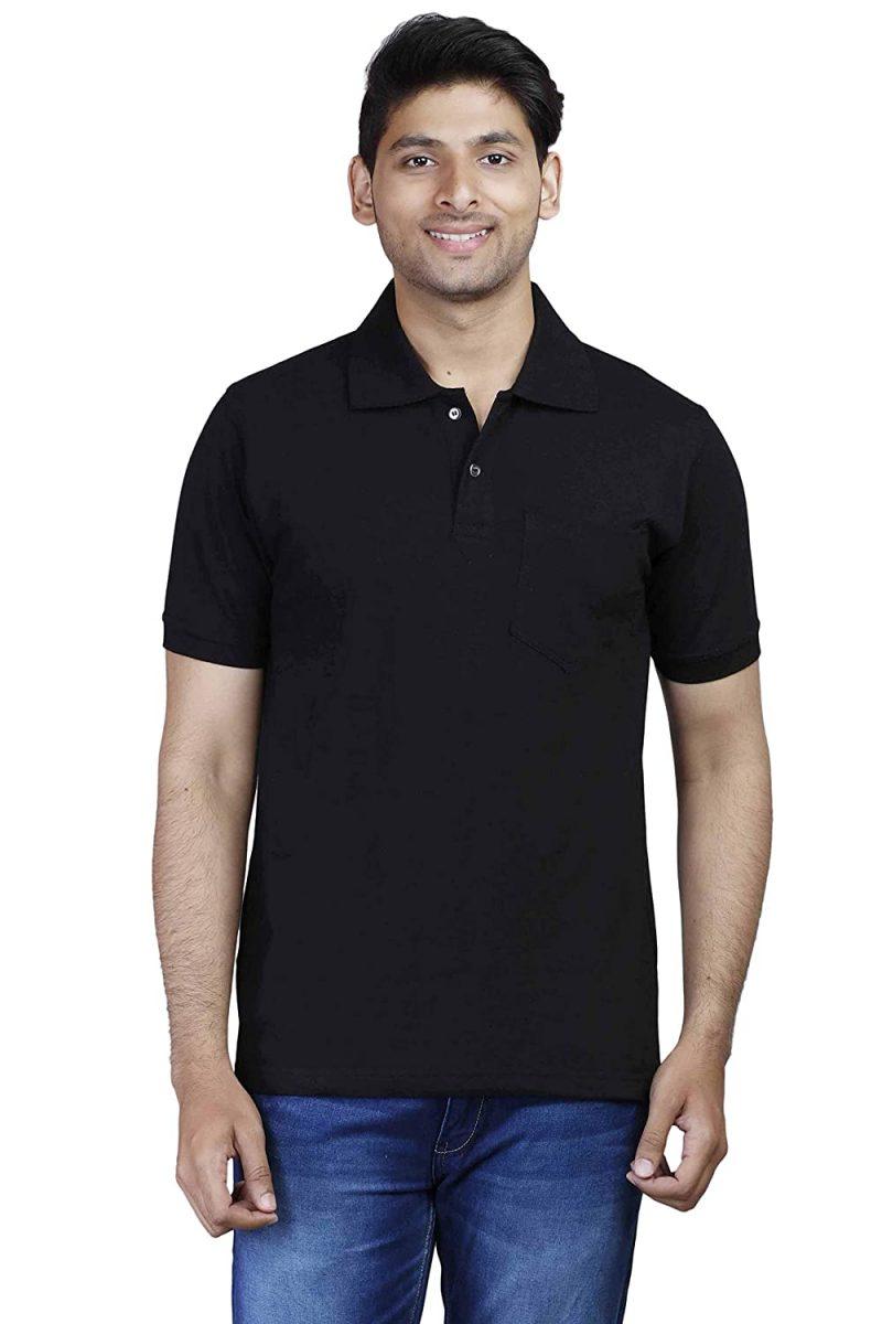 Men's polo Black T-shirt