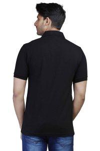 Men's Black Polo Collar T-shirt