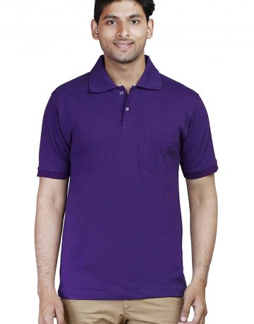 Men's Purple Polo Collar t-shirt