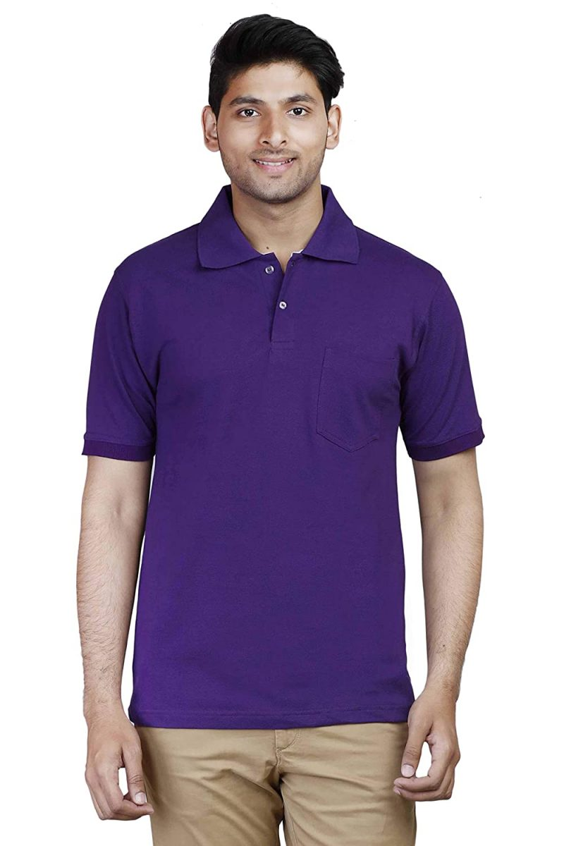 Men's Purple Polo Collar t-shirt
