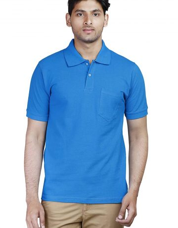 Men's Blue Polo Collar t-shirt