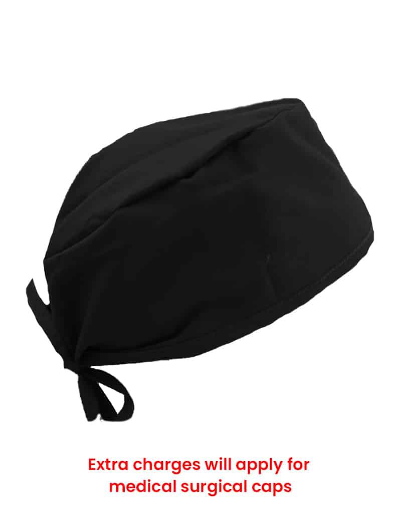 scrub cap black