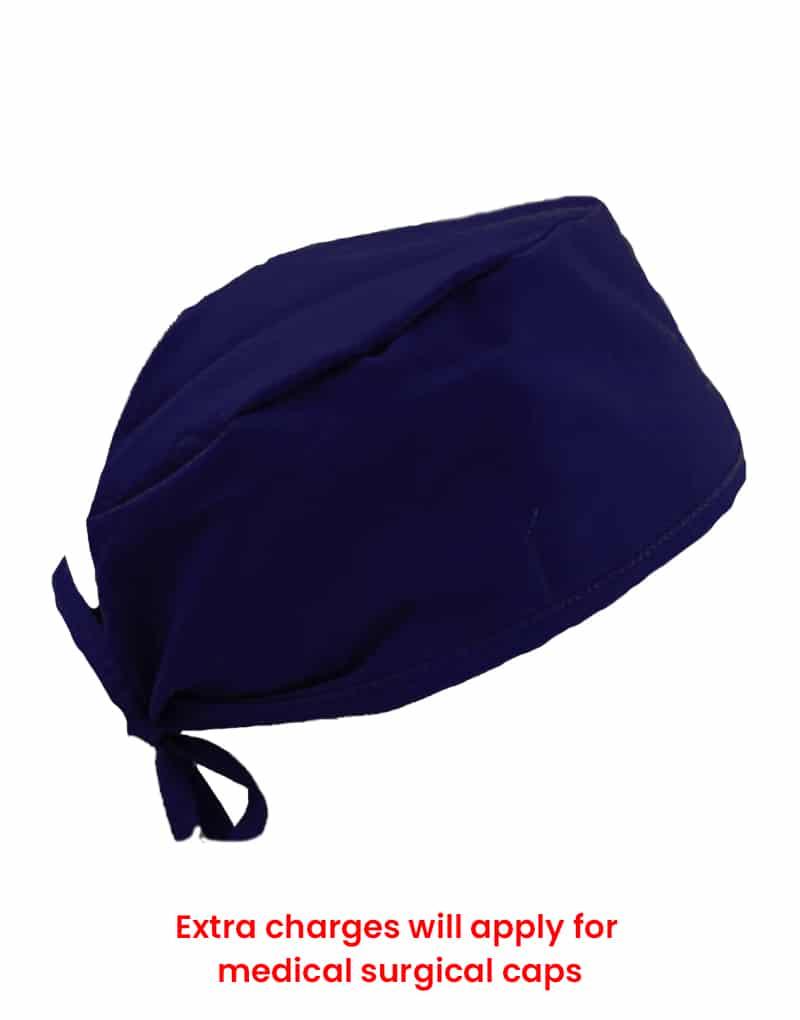 scrub cap blue black