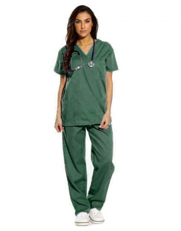 Dark Green Half Sleeve All-Day Medical Scrub