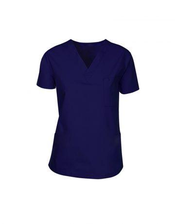 Blue Black Medical Scrub