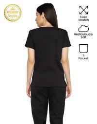 black-easy-strech-scrub-female-back