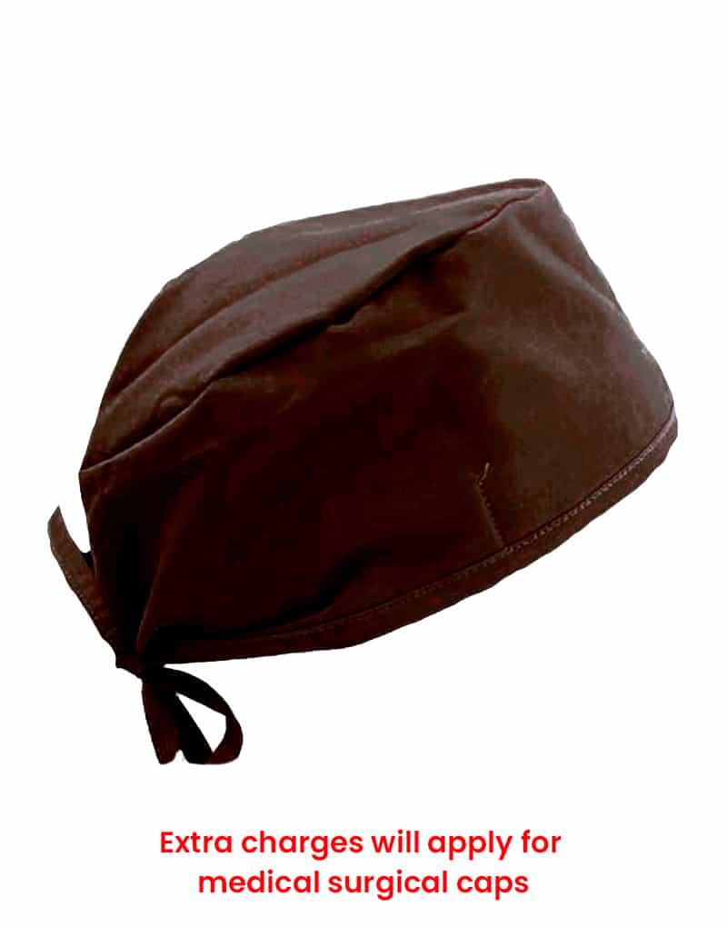 scrub cap brown