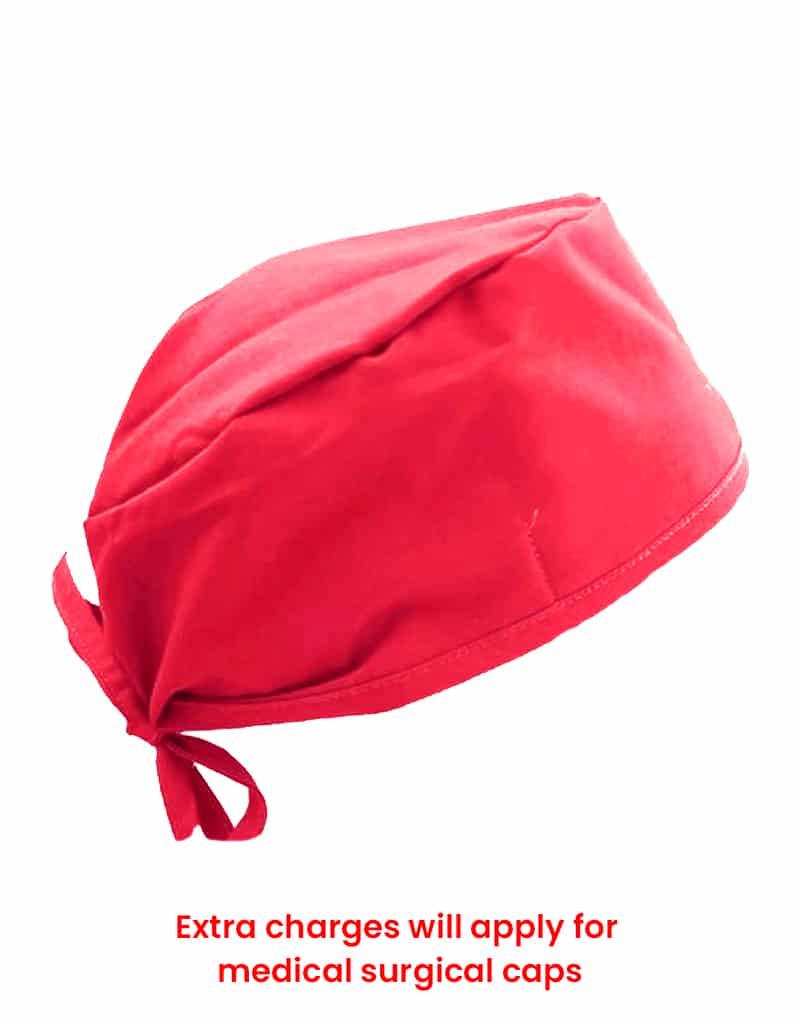 scrub cap red