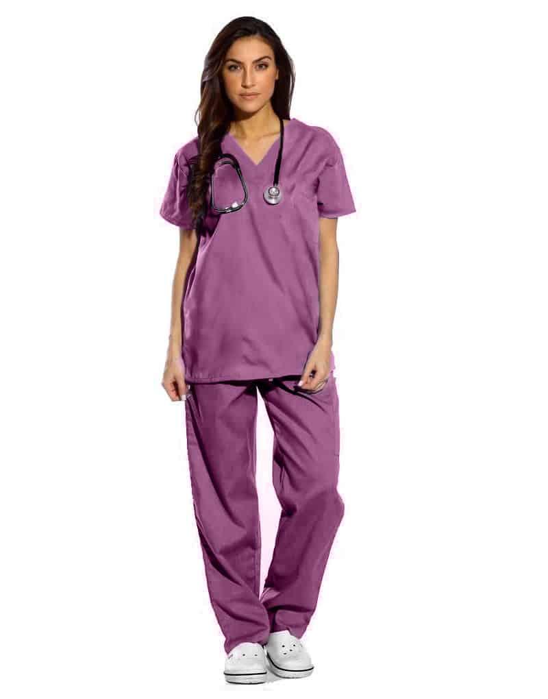 Violet Half Sleeve All-Day Medical Scrubs
