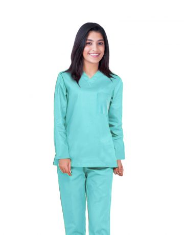 Sea Green Full Sleeve All-Day Medical Scrubs
