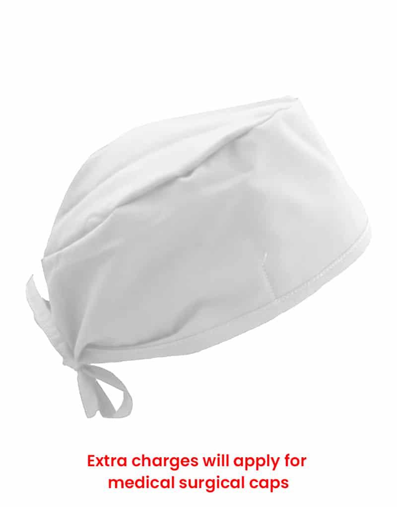 scrub cap white