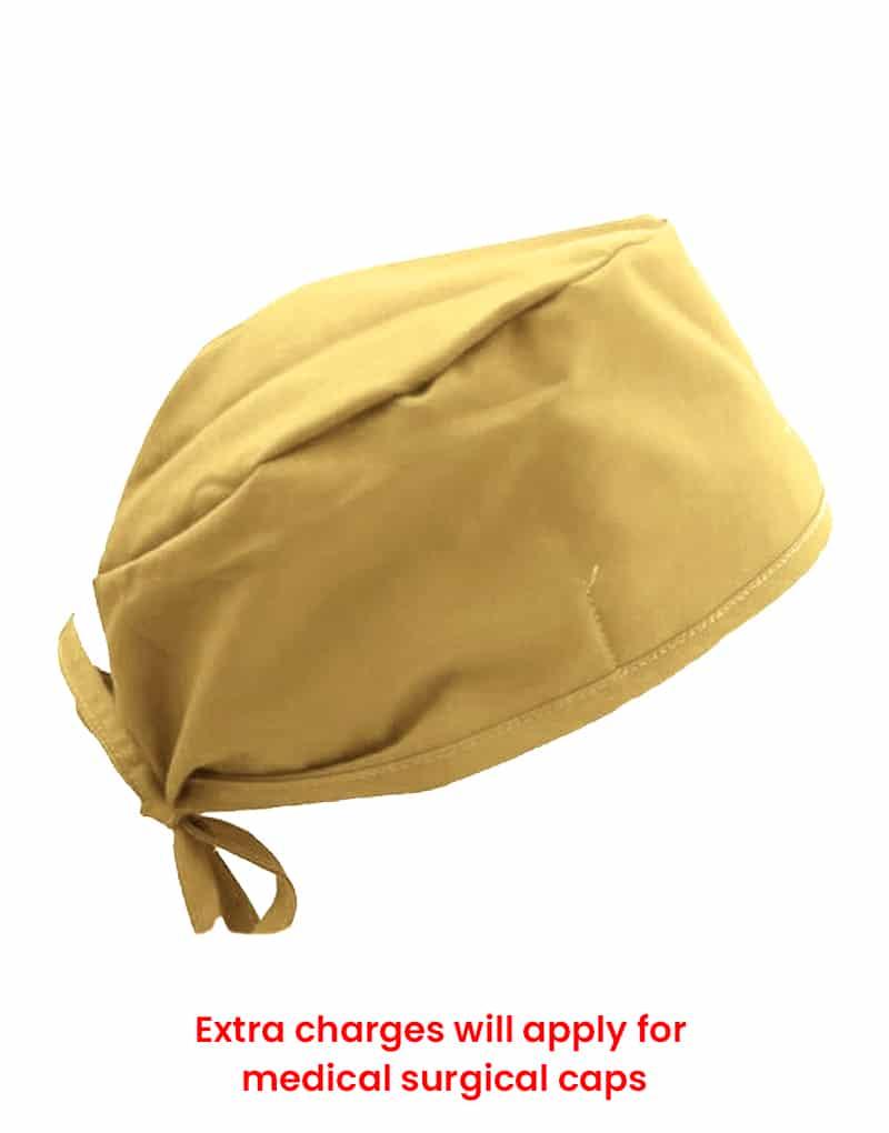 scrub cap yellow