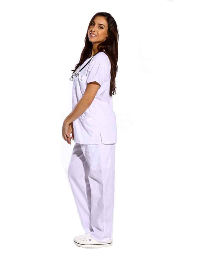 white-medical-scrub-side