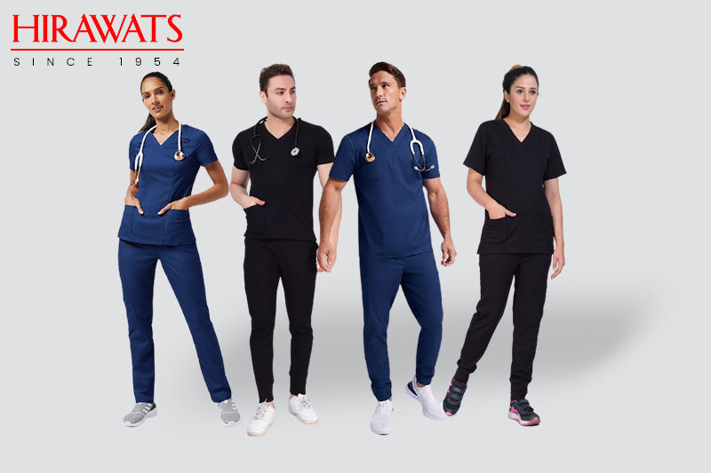 4 Way Stretch Scrubs In Trendy Colours