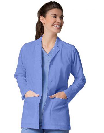 sky blue full lab coat