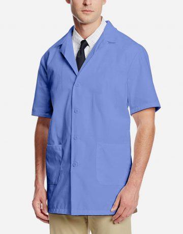 sky blue lab coat