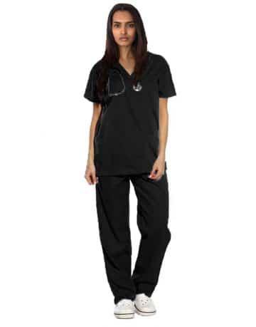Black Originals Half Sleeve Medical Scrubs
