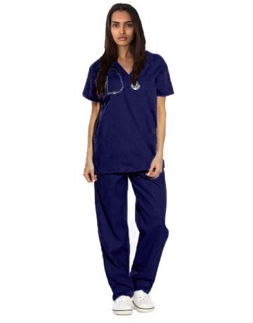Blue Black Medical Scrubs
