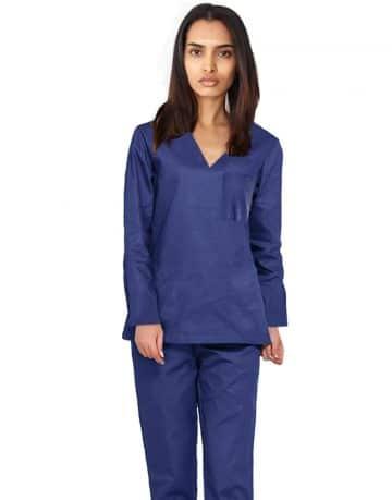 Blue Black Originals Full Sleeve Medical Scrubs