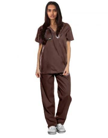 Brown Originals Half Sleeve Medical Scrubs