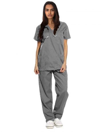 Dark Grey Originals Half Sleeve Medical Scrubs