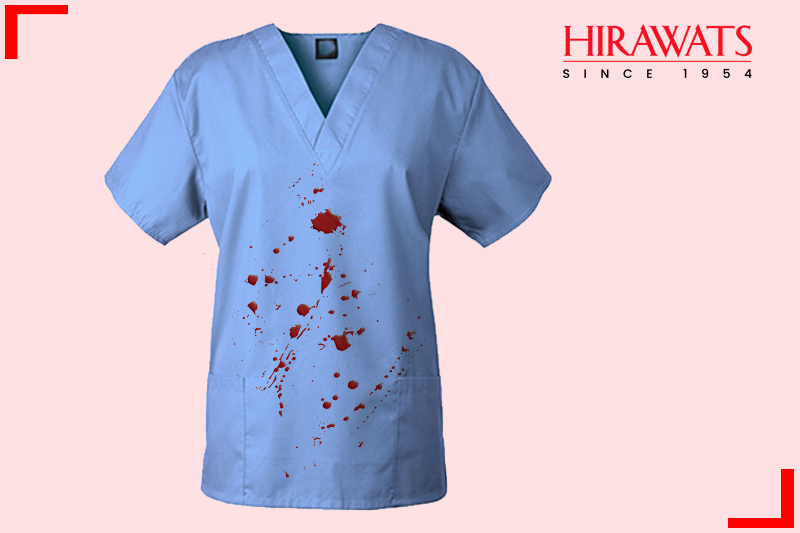 Tips on Remove Stains from Hospital Scrubs (Ink, Deodorant, Blood, and dye)