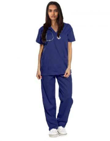Navy Blue Originals Half Sleeve Medical Scrubs
