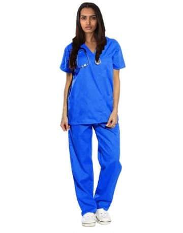 Royal Blue Originals Half Sleeve Medical Scrubs