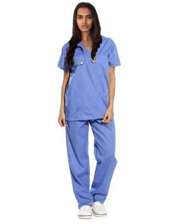 Sky Blue Originals Half Sleeve Medical Scrubs