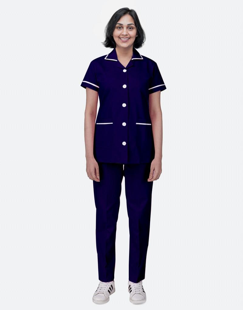 Blue-black Half Sleeve Nurse uniform