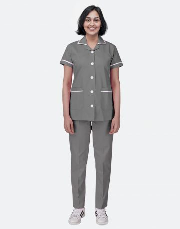 Dark Grey Half Sleeve Nurse uniform