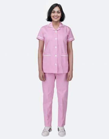 Pink Half Sleeve Nurse uniform