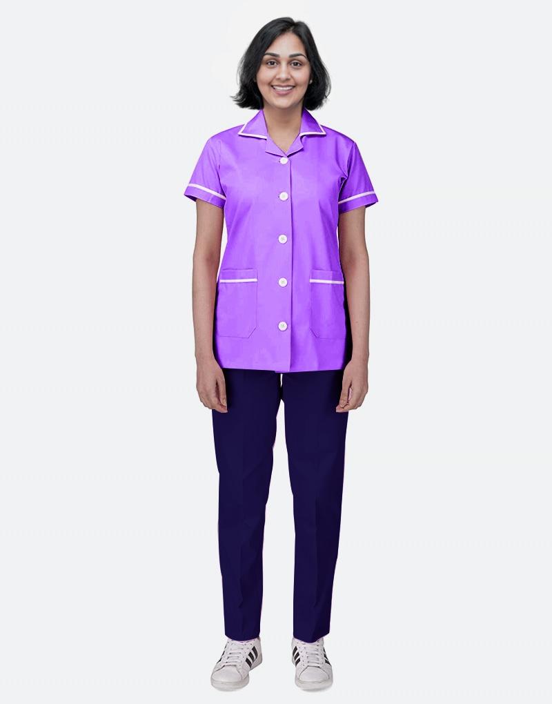 Mix N Match Nurse Uniform - Purple - Navy Blue
