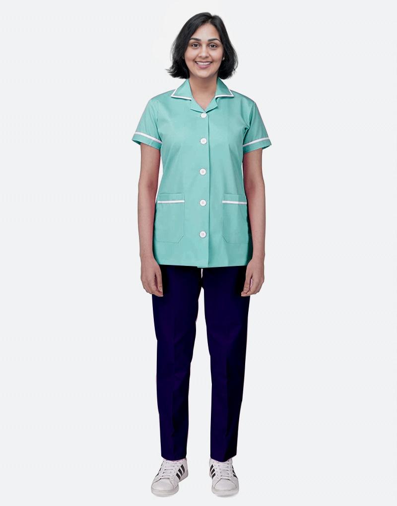 Mix N Match Nurse Uniform - Sea Green - Navy Blue
