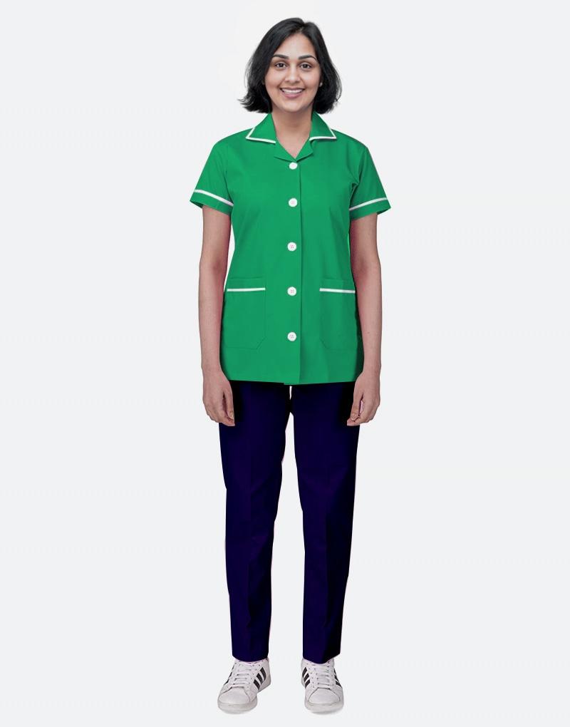 Mix N Match Nurse Uniform - Spinach Green - Navy Blue
